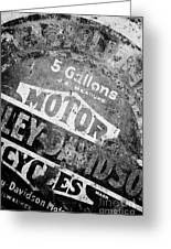 Five Gallon Motorcycle Oil Can Greeting Card