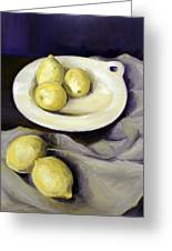 Five Lemons Greeting Card