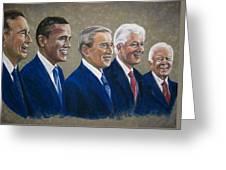 Five Living Presidents 2009 Greeting Card by Martha Suhocke
