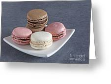 Five Macaroons Greeting Card