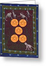 Five Of Pentacles Greeting Card