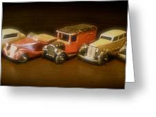 Five Toys From The Forties Greeting Card
