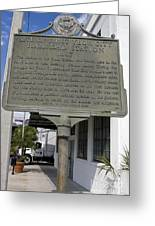 Fl-1020 Site Of First Ybor City Railroad Station 1887 Greeting Card