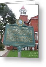 Fl-f304 Osceola County Greeting Card