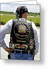 Fla Post 4143 Vfw Rider Color Usa Greeting Card