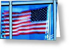 Flag Abstract Reflection Greeting Card