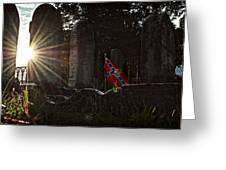 Flag And Stone Greeting Card