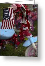 Flag Bike Greeting Card