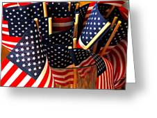 Flag Bouquet Greeting Card by Mamie Gunning