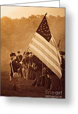 Flag Carrier Greeting Card