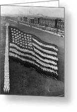 Flag Formation, C1917 Greeting Card