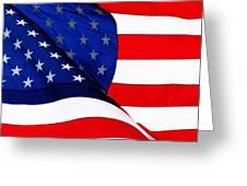 Flag Mirror Greeting Card