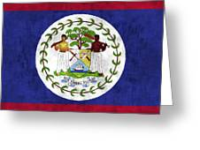 Flag Of Belize Greeting Card