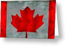 Flag Of Canada Greeting Card