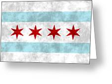 Flag Of Chicago Greeting Card