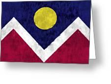 Flag Of Denver Greeting Card