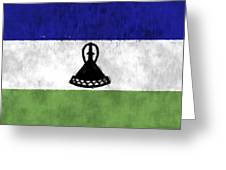 Flag Of Lesotho Greeting Card