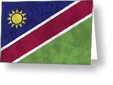 Flag Of Namibia Greeting Card