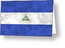 Flag Of Nicaragua Greeting Card