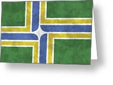 Flag Of Portland Greeting Card