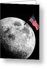 Flag On The Moon Greeting Card
