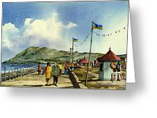 As I Walk Along The Promenade With An Independant Air  ....... Greeting Card