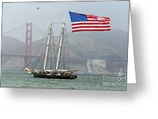 Flag Ship Greeting Card
