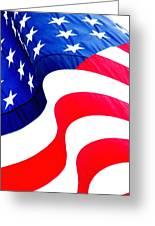 Flag Unfurl Greeting Card
