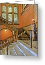 Flagler College Entryway Greeting Card by Rich Franco
