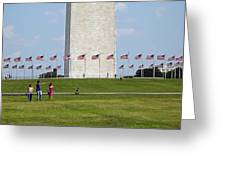 Flags Around Washington Greeting Card