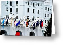 Flags At The Greenbrier Greeting Card