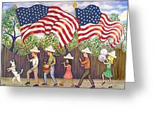 Flags Greeting Card by Linda Mears