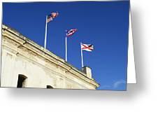 Flags Of San Christobal Greeting Card