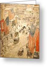 Flags On 57th Street Greeting Card