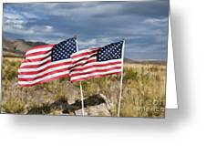 Flags On Antelope Island Greeting Card