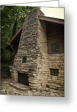 Flagstone Fireplace Greeting Card