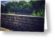 Flagstone Wall Greeting Card