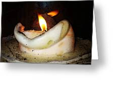 Flame Candle Art Greeting Card