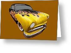 Flame Car Greeting Card
