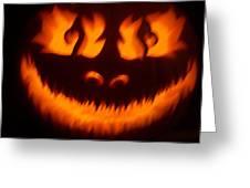 Flame Pumpkin Greeting Card