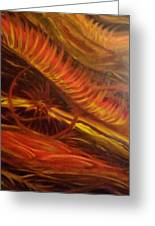 Flame Run Greeting Card by Adriana Garces