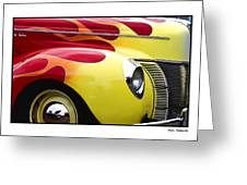 Flamed Ford Greeting Card