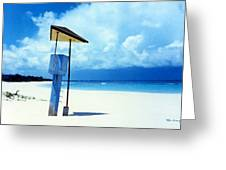 Flamenco Beach And Storm Greeting Card