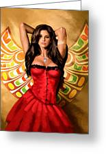 Flamenco Dancer 011 Greeting Card by Catf
