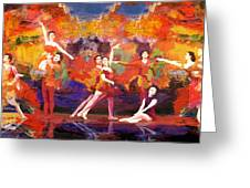 Flamenco Dancer 022 Greeting Card by Catf