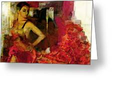 Flamenco Dancer 024 Greeting Card