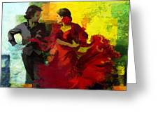 Flamenco Dancer 025 Greeting Card by Catf