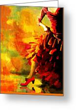 Flamenco Dancer 026 Greeting Card