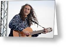 Flamenco Guitarist Greeting Card