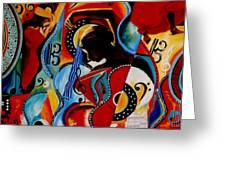 Flamenco Greeting Card by Vel Verrept